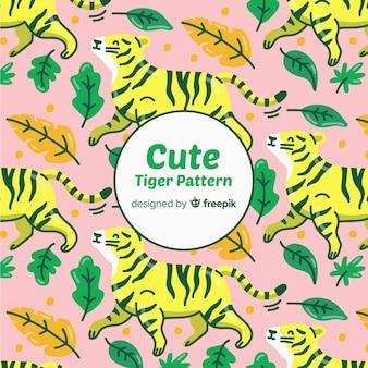 Szczęśliwy tygrys wzór