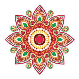 Szczęśliwy ugadi gudi padwa hinduskiego nowego roku kartka z pozdrowieniami wakacje
