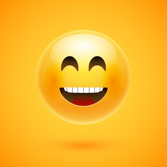 Szczęśliwy uśmiech emoji.