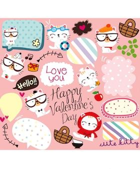 Szczęśliwy valentine doodle