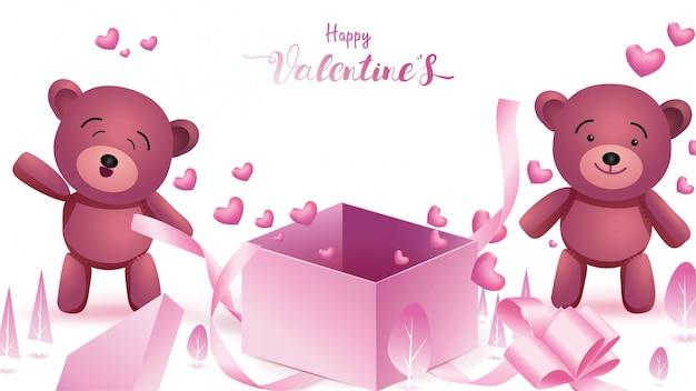Szczęśliwy valentine's tło