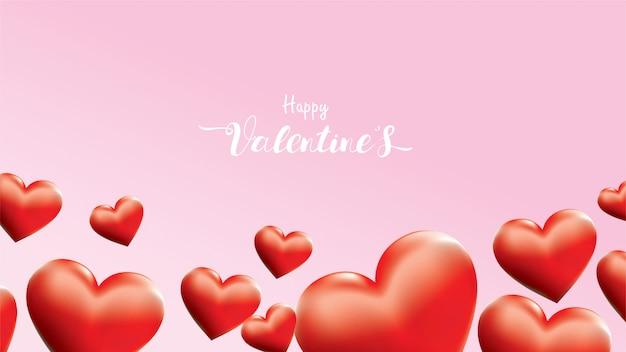 Szczęśliwy valentine tło