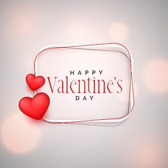 Szczęśliwy valentines dnia tło z 3d sercami