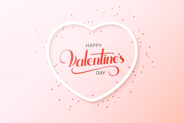 Szczęśliwy walentynki pozdrowienia projekt karty z papieru wyciąć czerwone serce kształt balonów na ogrzane powietrze latające i serca w kolorze białym. ilustracja.