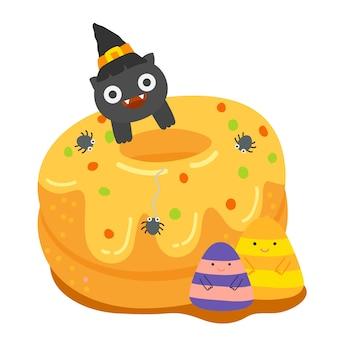 Szczęśliwy wektor halloween.