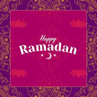Szczęśliwy wektor szablonu mediów społecznościowych ramadan