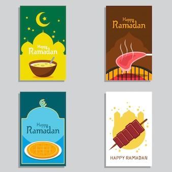 Szczęśliwy wektor transparent projektu ramadan