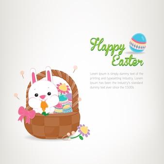Szczęśliwy wielkanocny dzień, wakacyjni kolorowi egges na białym tle. kartkę z życzeniami na dzień wielkanocy