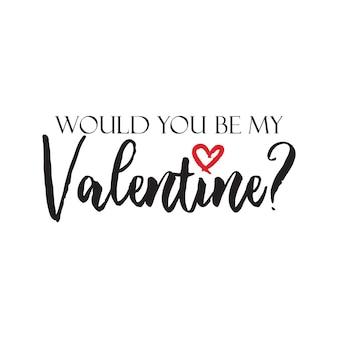 Szczęśliwych walentynek bądź moją walentynką z napisem w kształcie małego serca w gorącym różowym kolorze wektora