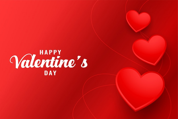 Szczęśliwych walentynek kartkę z życzeniami piękne czerwone serca