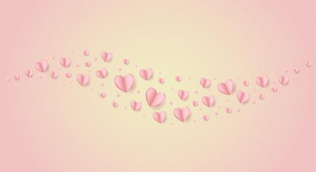 Szczęśliwych walentynek. z kreatywnym różowym balonem miłości
