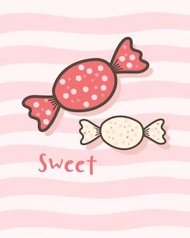 Szczęśliwych walentynek z słodkimi cukierkami