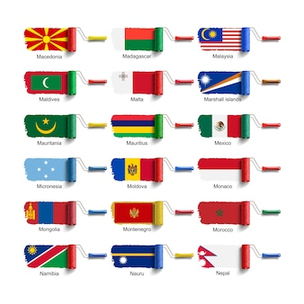Szczotka rolkowa z flagą narodową