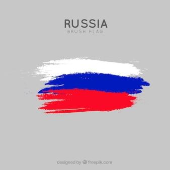 Szczotka udar rosyjski tło flaga