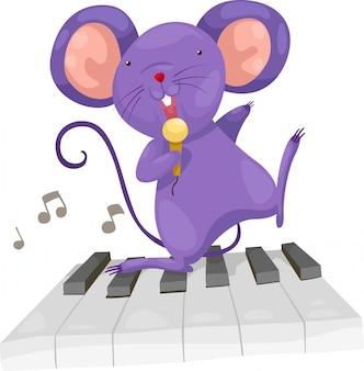 Szczur śpiewać wektor