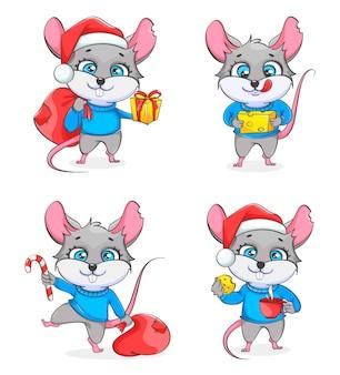 Szczur, symbol nowego roku 2020 zestaw