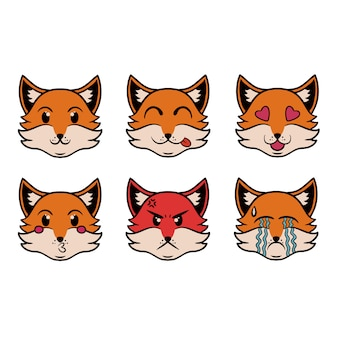 Szef fox emoji w stylu pop-art