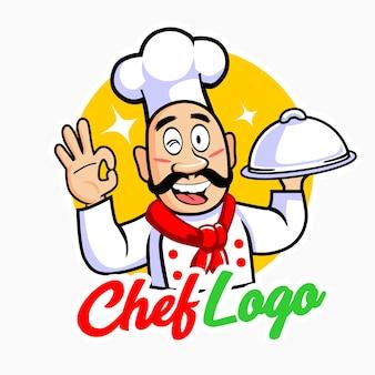Szef kuchni z dużymi wąsami