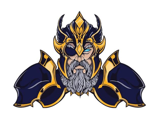 Szef logo ilustracji odin