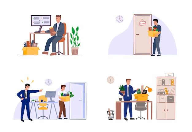 Szef zwalnia pracownika w biurze