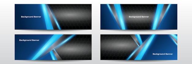 Szerokie tło z różnymi elementami technologicznymi. koncepcja technologii cyfrowej komputera hi-tech. streszczenie technologii komunikacji. neonowe świecące linie. rozmycie prędkości i ruchu na ciemnym tle.