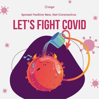 Szerzenie świadomości na temat samoobrony dzięki szablonowi projektu banera covid covid 19