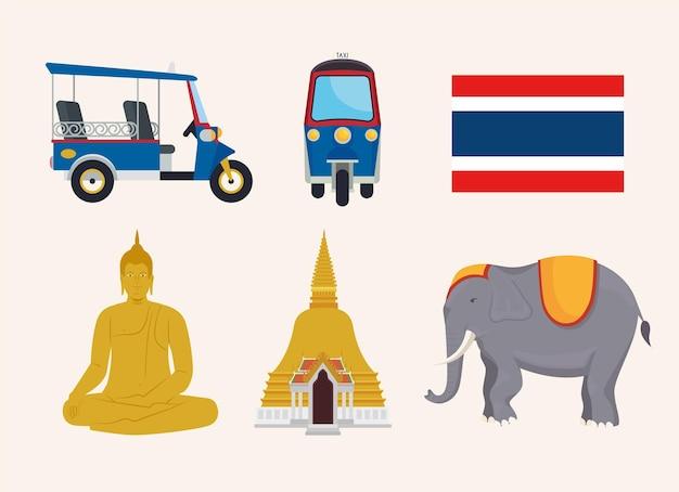 Sześć ikon tajlandii