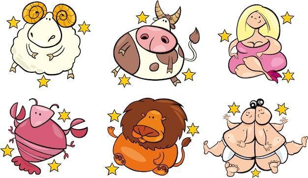 Sześć nadwagą znaków zodiaku