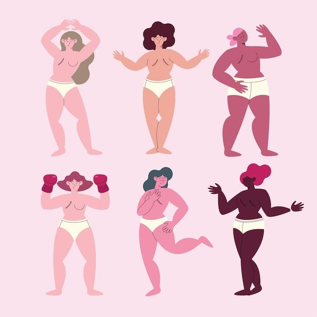 Sześć osób, które przeżyły raka piersi