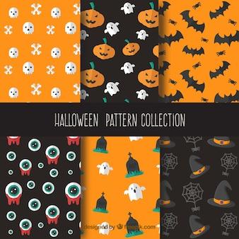 Sześć przerażające wzory na halloween