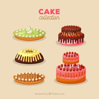 Sześć pysznych ciast urodzinowych