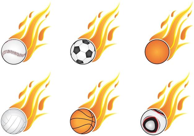 Sześć rodzajów sportów i otwarty płomień