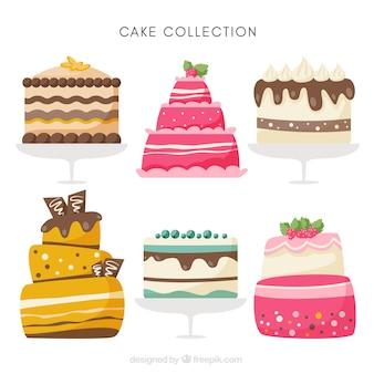 Sześć różnych ciast urodzinowych