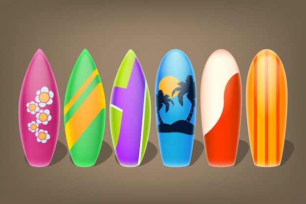 Sześć surfuje