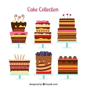 Sześć tortów urodzinowych