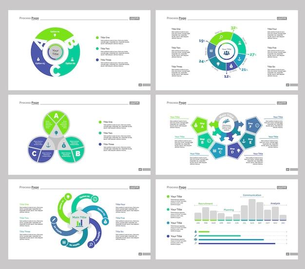 Sześć zestawów szablonów zarządzania