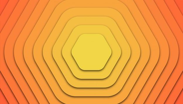 Sześciokąt geometryczne tło z cięcia papieru