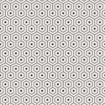 Sześciokąta tła wzoru wektor dla tapetowej tekstury płytki