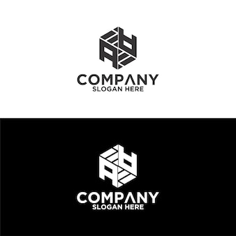 Sześciokątne logo litery aa