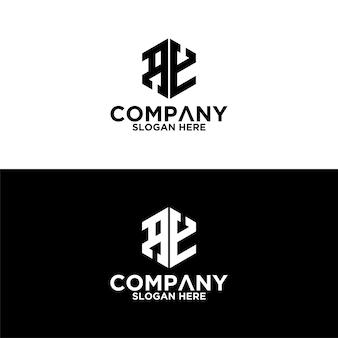 Sześciokątne logo litery ae