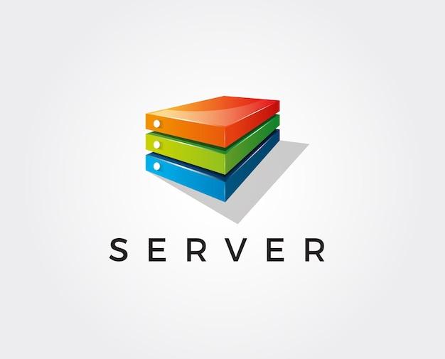 Sześciokątne logo server box