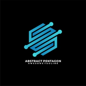 Sześciokątne logo technologii