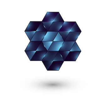 Sześciokątne logo.