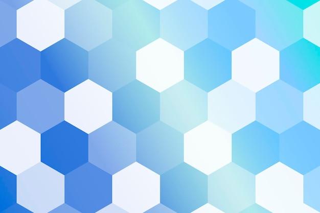 Sześciokątne niebieskie tło