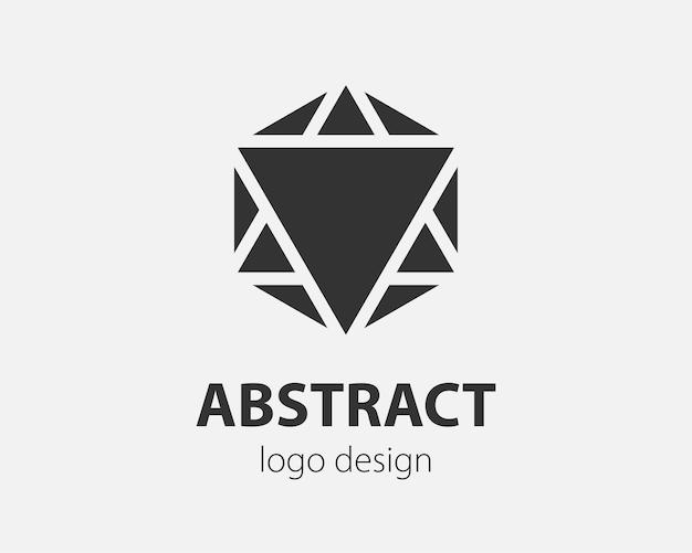 Sześciokątny projekt tech logo wektor trend. logotyp technologii dla systemu inteligentnego, aplikacji sieciowej