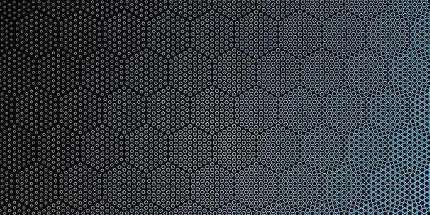 Sześciokątny styl konturu kropki w tle wzór rastrowy
