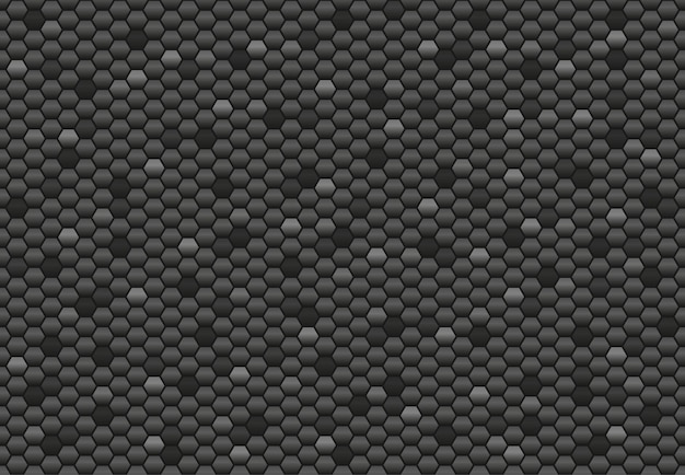 Sześciokątny wzór czarnego węgla. abstrakcyjne tło