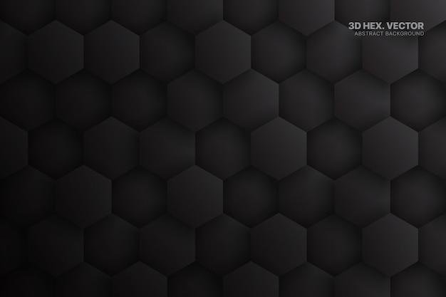 Sześciokąty ciemnoszary streszczenie technologia tło