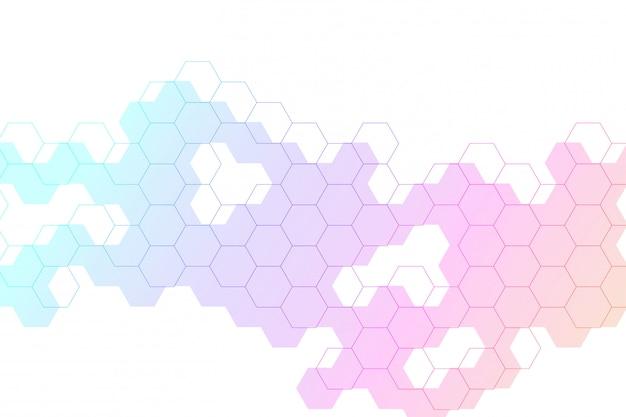 Sześciokąty streszczenie tło z geometrycznych kształtów. pojęcie nauki, technologii i medycyny. futurystyczne tło w stylu nauki. graficzne tło hex dla swojego projektu. .