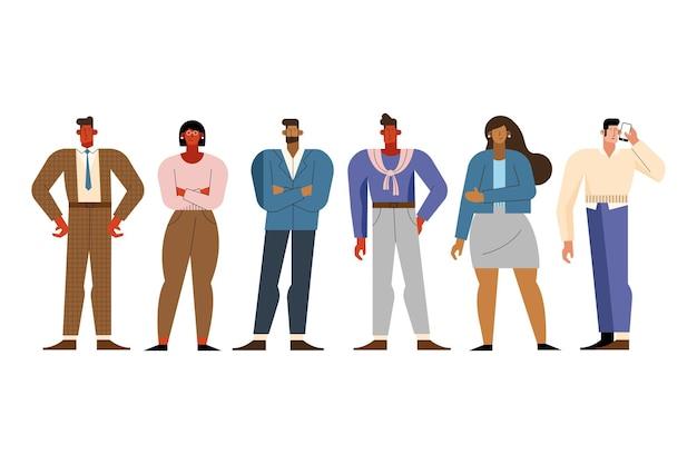 Sześciu przedsiębiorców stojących